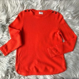 Madewell/Wallace Merino Wool Sweater with Buttons